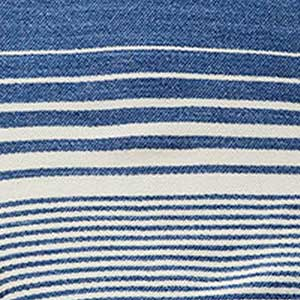 Penobscot Blanket swatch - indigo with white stripes