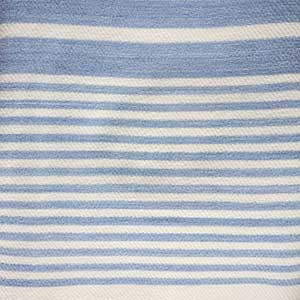 Penobscot Blanket swatch - wedgwood with white stripes