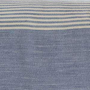 Penobscot Throw swatch - wedgwood with white stripes
