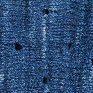 Coastal Cowl swatch - nautical blue