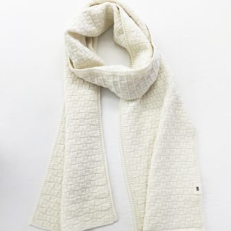 Basketweave Scarf, Natural