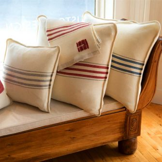 Swans Island Grace Pillows, handwoven in Maine with organic merino wool