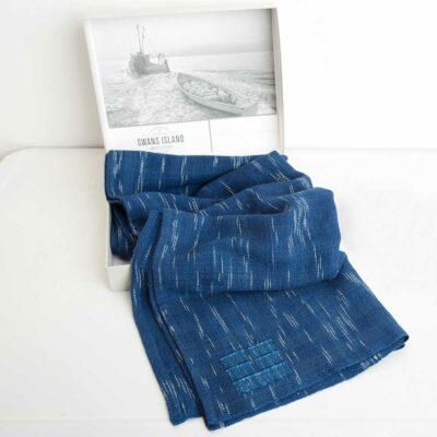 Swans-Island-Firefly-Handwoven-Wrap-in-exclusive grey linen-gift box