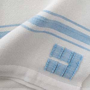 Grace Baby Blanket swatch - blue