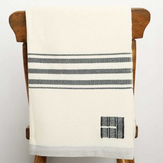 Grace Throw - charcoal