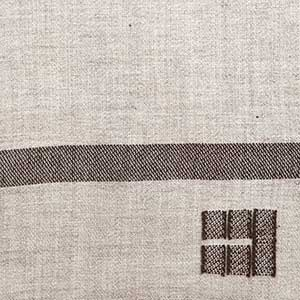 Island Blanket Swatch - Long Cove grey and rare brown