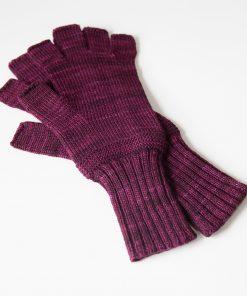 Bar Island Fingerless Gloves - aubergine