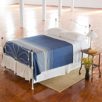 Penobscot Blanket - Nautical Blue with White Stripe