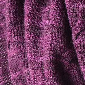 Cirrus Cowl swatch - aubergine