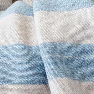 Cottage Cotton Blanket swatch - sky blue and natural
