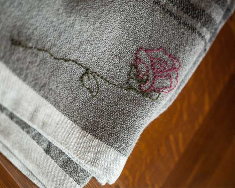 Wild Rose Farm embroidery