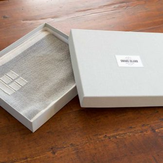 Blue Hill Scarf in linen gift box