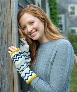 Parquette Fingerless Mitts