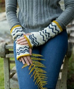 Parquette Fingerless Mitts - kit