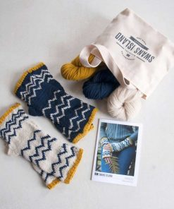Parquette Fingerless Mitts Kit Contents