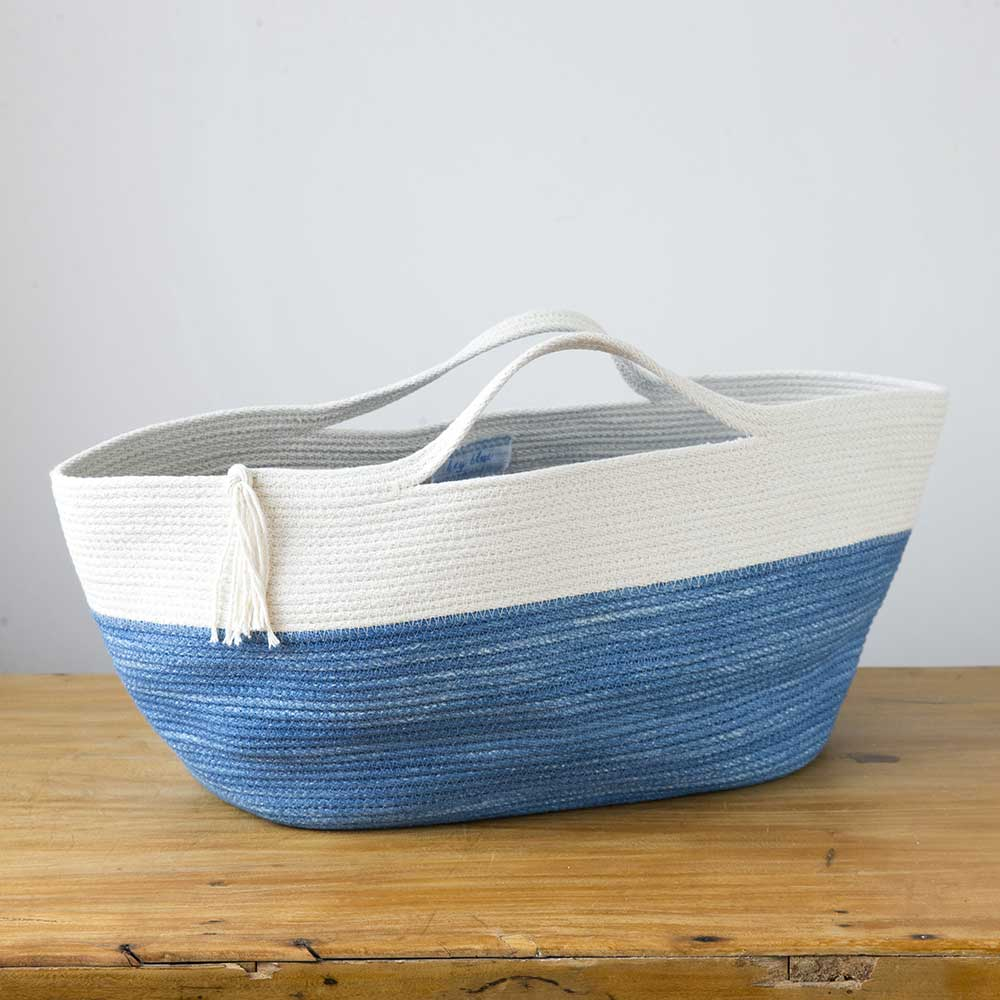 Hey Blue Market Tote - Indigo & Natural