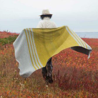 Swans-Island_Mt-Kineo-handwoven Throw in Lichen