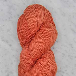 Ombre fingering swatch - coral