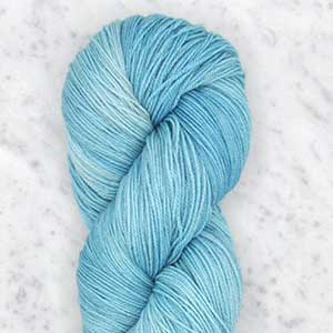 Ombre fingering swatch - seaglass