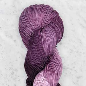 Ombre fingering swatch - wisteria ombre