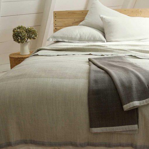 Solstice Blankets on Bed