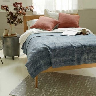 Winter Blanket solid - indigo ikat