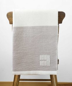 Winterport Throw - Oatmeal and White