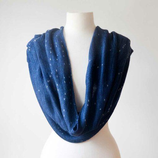 Swans-Island_Firefly-Knit Infinity Scarf in_Sapphire