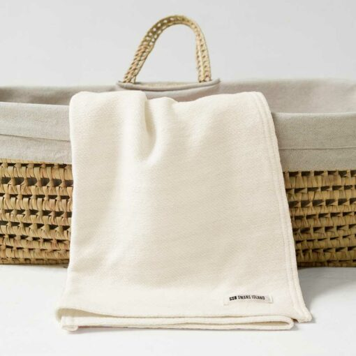 Acadia Baby Blanket - Solid White