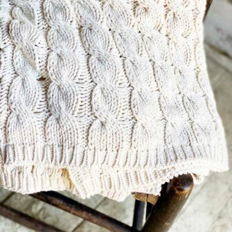Swans-Island_Chunky-Cotton-Throw_Knit_in Natural undyed cotton