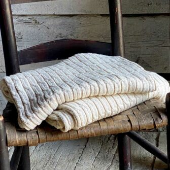 Swans-Island_Cotton-Cabled-Throw knit in USA with undyed cotton