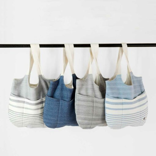 Swans Island Penobscot and Acadia Boho Bags made with upcycled blanket cloth
