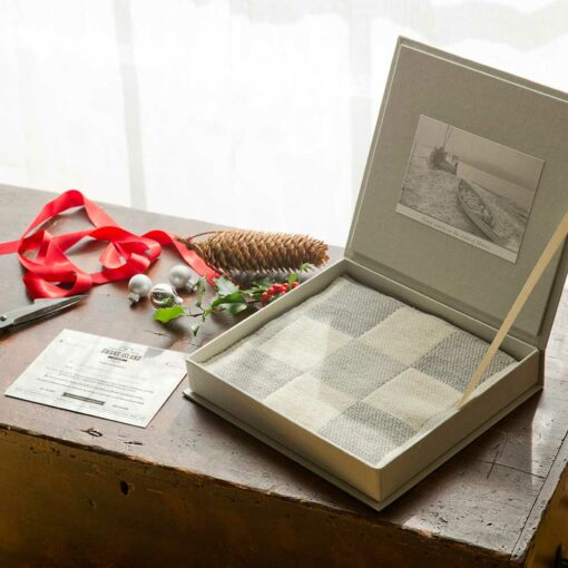 The ultimate Gift - a Swans-Island-Winter-Blanket-Swatch gift box lets them choose their blanket