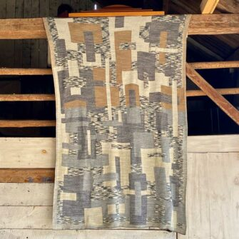 Swans-Island_Artisan-Patchwork-Throw-#3-knit in Birch, Sand, Granite neutrals
