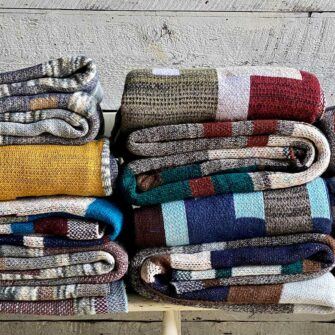 Swans-Island_Artisan-Patchwork-Throws, each unique, knit in the USA.