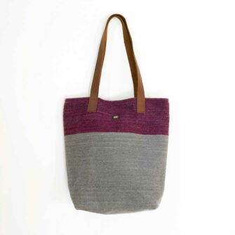 Swans Island Bayview-Tote_Plum-Ash__handwoven in Maine
