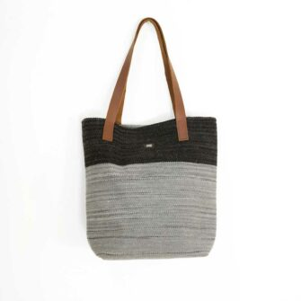 Swans Island Bayview-Tote_Quarry-Ash__handwoven in Maine