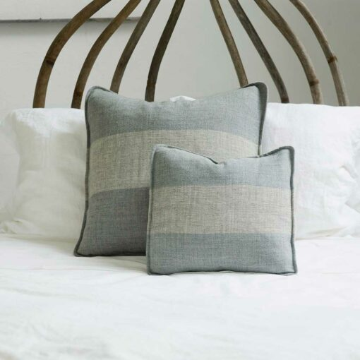Swans Island Solstice Pillows - Handwoven with undyed wools in Grey+Grey