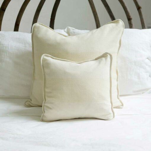 Swans Island Solstice Pillows - Handwoven with undyed wools in White+White