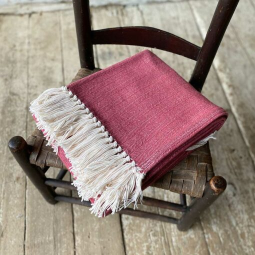 Swans-Island-Bradbury-Throws in Barn Red woven in Maine with American Cotton
