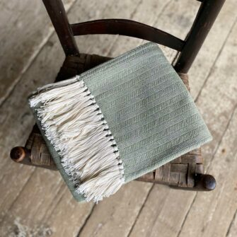 Swans-Island-Bradbury-Throws in Bayleaf woven in Maine with American