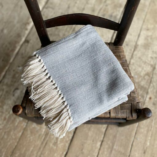 Swans-Island-Bradbury-Throws in Heather Gray woven in Maine with American