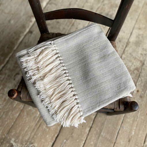 Swans-Island-Bradbury-Throws in Tan woven in Maine with American