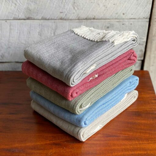 Swans-Island-Bradbury-Throws woven in Maine with 100 American cotton