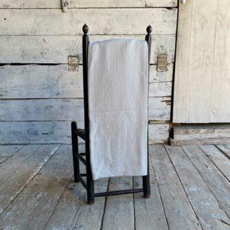 Swans Island Belfast Throw in Light Grey - 100% Cotton woven in Maine.