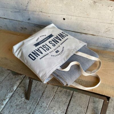 Swans Island Belfast Throws comes in our cotton canvas tote bag.
