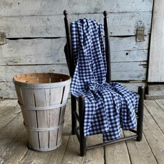 Swans-Island-Gingham-Check-Throw in Navy-and white - classic gingham, 100% American cotton.