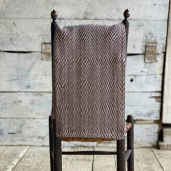 Swans Island Harmony Throw in Dark Brown- Soft cotton and cashmere, woven in Maine