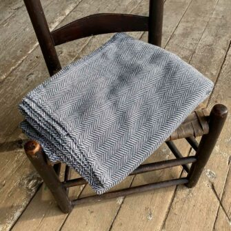 Swans Island Harmony Throw in Charcoal - Soft cotton and cashmere, woven in Maine