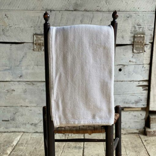 Swans Island Harmony Throw in Gray- Soft cotton and cashmere, woven in Maine